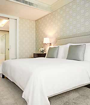 Guest rooms at Oriental Residences Bangkok
