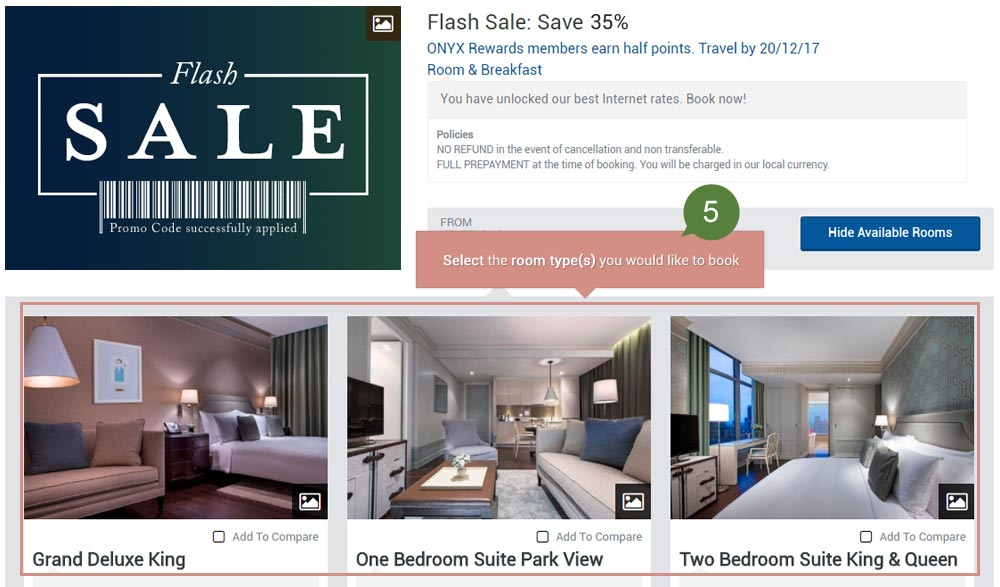 How to Book - Flash Sale Promotion